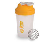 BLENDER BOTTLE MINI SUPER SHAKER MEZCLADOR W/BALL 400ML YELLOWCA